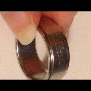 Steel Dragon Spinner Ring